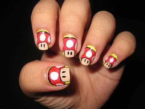 design nails game classic mario game nail design nail art design from
