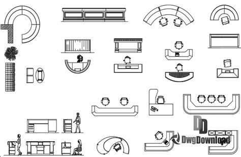 Reception Furnitures Dwg Download 187 Dwgdownload Com Reception Desk Cad Block