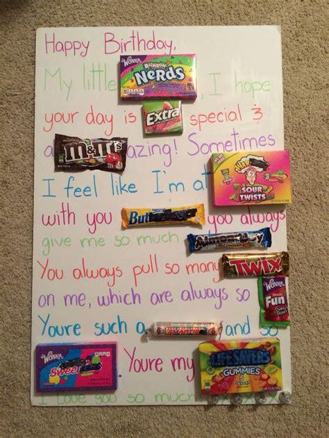 candy poster dyi birthday sister creatividad pinterest birthdays sisters  candy posters