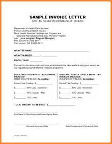 doc 460595 invoice letter letter to customer invoice