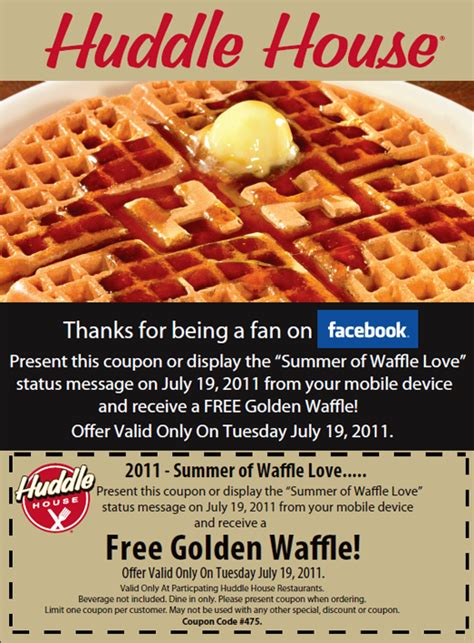 printable huddle house coupons printable coupons and deals huddle house free golden
