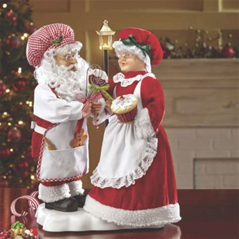 animated santa and mrs claus from seventh avenue dk704397