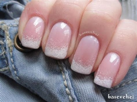 easy nail art french manicure easy ombre french manicure nail art basevehei youtube