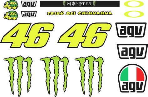 Motogp Helm Sticker by Valentino Helmet Sticker Kit
