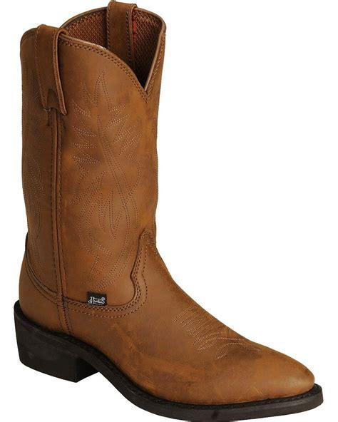 mens cowboy work boots justin s ranch and road cowboy work boot medium toe