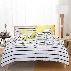 duvet cover and sheet set black and white striped duvet cover and sheet cotton