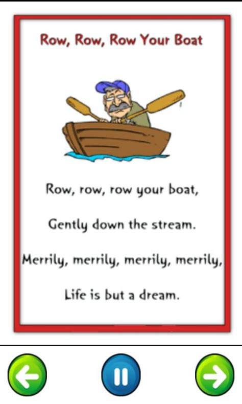 row row row your boat lyrics full version download the top 16 nursery rhymes lyrics android apps
