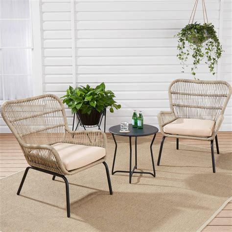 mainstays adina bay outdoor patio furniture  piece wicker
