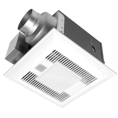 panasonic bathroom exhaust fan with light panasonic deluxe 80 cfm humidity and motion sensor ceiling bathroom exhaust fan