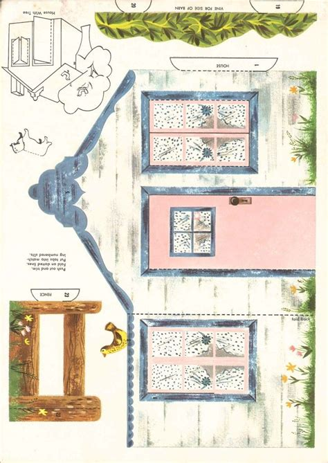 printable miniature house printable paper house navidad pinterest paper houses