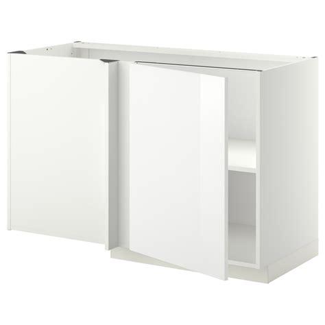 ikea cabinet shelf metod corner base cabinet with shelf white ringhult white
