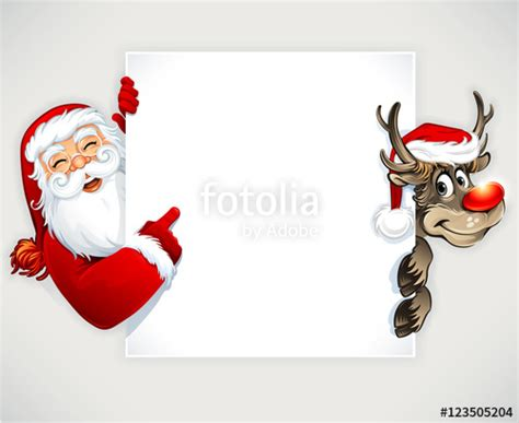 animated photos of christmas santa claus with reindeer quot santa claus and reindeer vector vintage greeting card design quot stock image