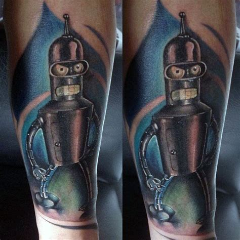 bender tattoo 40 bender designs for futurama robot ink ideas