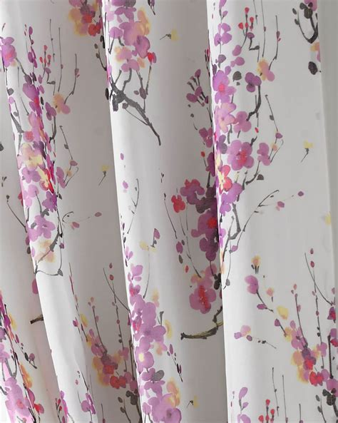 cherry blossom curtain tokyo cherry blossom lined eyelet curtains floral tree