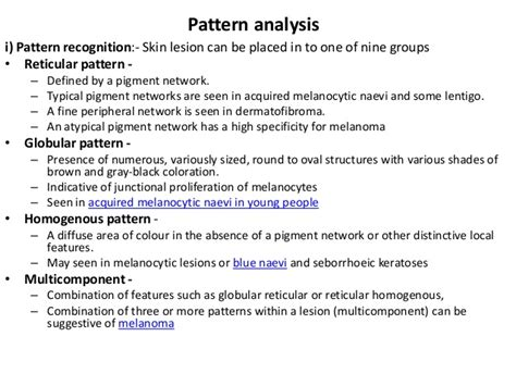 pattern analysis dermoscopy dermoscopy pigment vs vascular