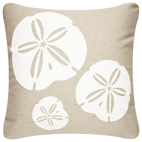 Eco Pillow by Sand Dollar Outdoor Eco Pillow Shell White Papyrus 18x18