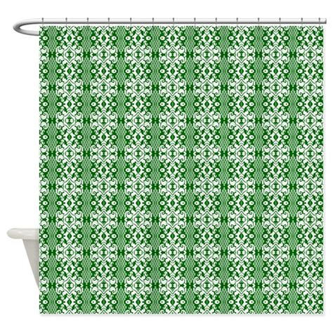 green damask curtains dark green and white damask shower curtain by graphicallusions