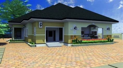 Gorgeous Bungalow House Plans 4 Bedroom Images 4 Bedroom Bungalow Architectural Design