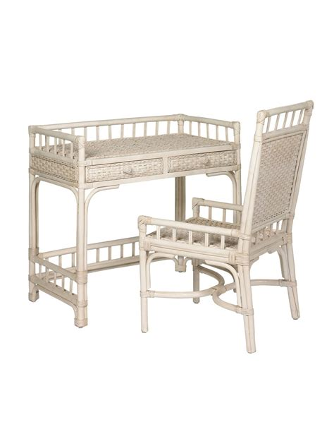 white writing desk and chair cottage wicker rattan writing desk cottage home 174