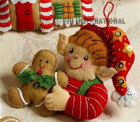make it and bake it christmas ornaments kit bucilla cookies felt ornament kit 86148 6 santa baking cookies