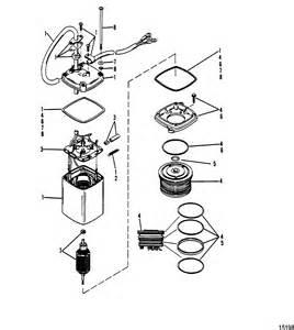 power trim eaton rectangular motor for mariner mercury 150 h p xr 2 marathon magnum v 6