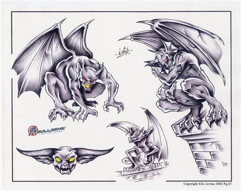 tattoos gargoyle designs 18 fantastic gargoyle sleeve images and pictures