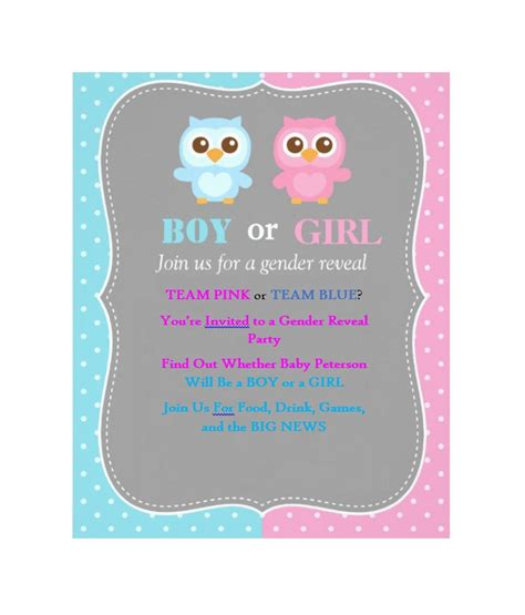 gender reveal invitation template free printable gender reveal invitations gangcraft net