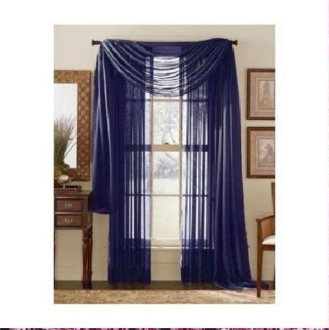 navy sheer curtains monagifts 2 panels navy blue sheer voile window panel
