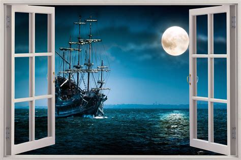 Sunset Wall Murals 3d pirate ship wallpaper wallpapersafari