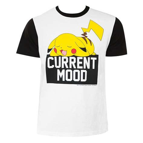 Tshirt Mood s pikachu current mood t shirt tvmoviedepot