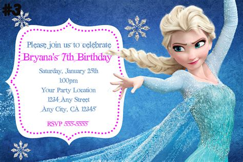 printable frozen birthday party invitations 9 best images of frozen birthday invitations printable