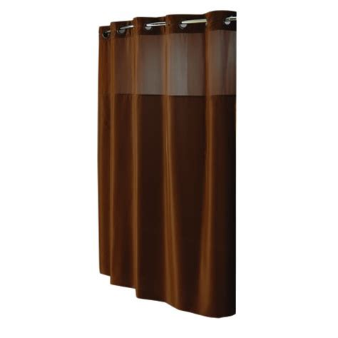 hookless shower curtain brown hookless mystery fabric shower curtain brown 12 98