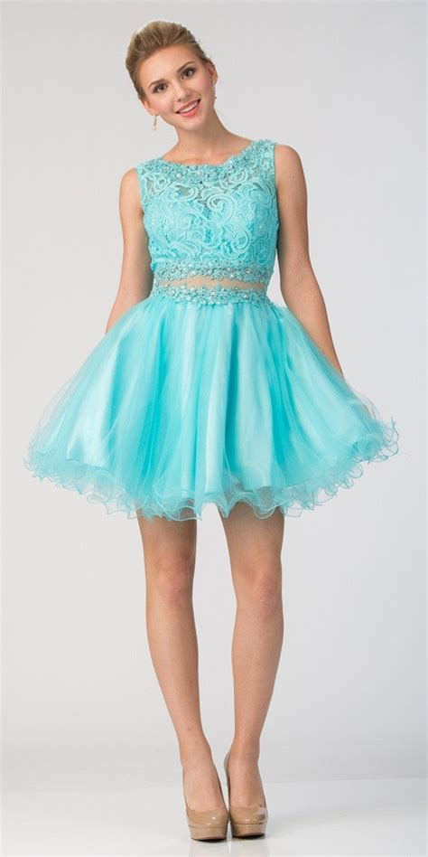 Sleeveless Two Dress starbox usa mock two sleeveless prom dress
