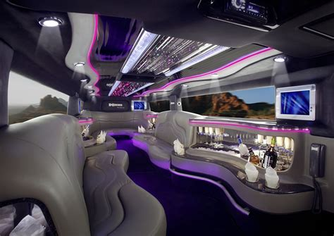 SPORTS CARS: Ferrari limousine interior