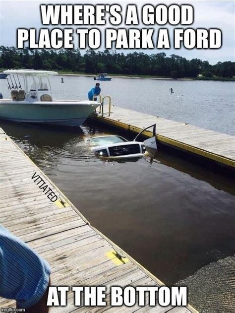 boat meme image tagged in ford trucks boat imgflip