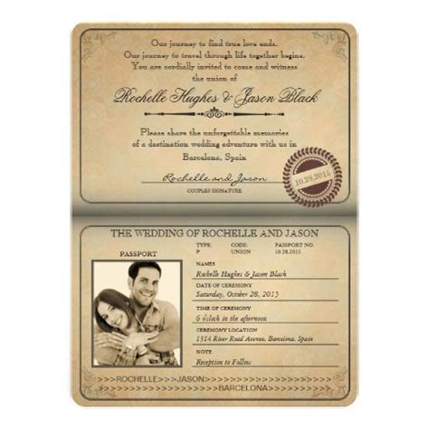 passport invite template passport invitation template 2019 invitations