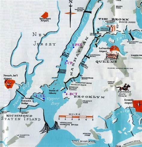 map new york harbor nycruiseinfo cruise terminals in the port of new