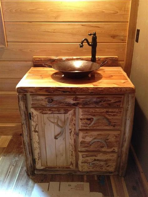 rustic sinks bathroom custom rustic cedar bathroom vanity made in michigan free shipping 765 00 via etsy for