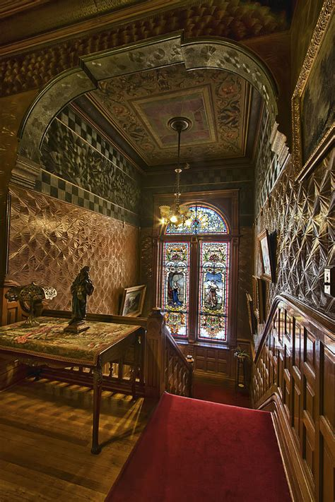 Interior Victorian Homes grand staircase copper king mansion butte montana