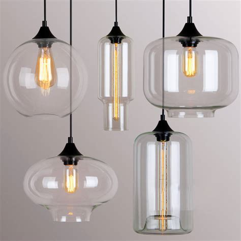 Selection Of Modern Lighting Can Deco Glass Pendant Light By Unique S Co