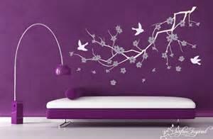 wall decals purple cherry blossom decal wall