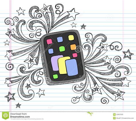 doodle lã sung vector incompleto doodle de la tablilla ordenador