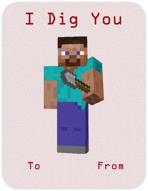 valentines day minecraft minecraft inspired cards diy v day craft