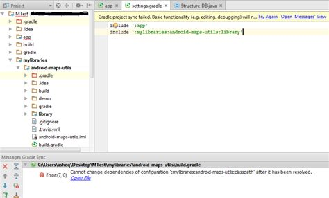 android studio add library android studio 2 1 2 add library cannot change dependencies of configuration stack overflow