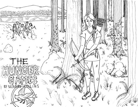 printable hunger games coloring pages hungergames free coloring pages