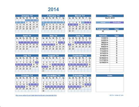 Cycle Calendar Menstrual Calendar Cycle Calendar Template 2016