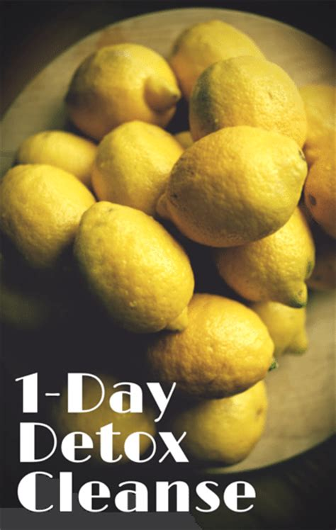 One Day Detox Cleanse by Dr Oz Cleanse For Just One Day Drink Lemon Water