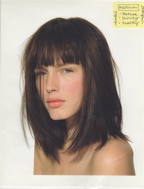 blunt fringe hairstyles long bob with fringe hairstyle 17 images about hair bangs