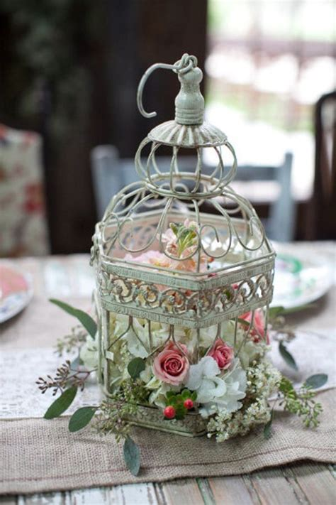 home decor table centerpiece wedding birdcage table centerpiece 20 flower birdcage