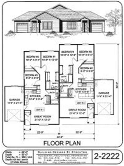 Single Story Duplex Floor Plans One Storey Duplex House Plans